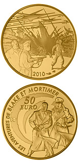 50 euro coin Blake and Mortimer | France 2010