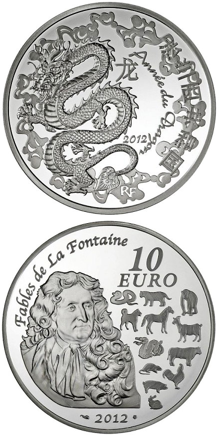10 euro Year of the Dragon - 2012 - France