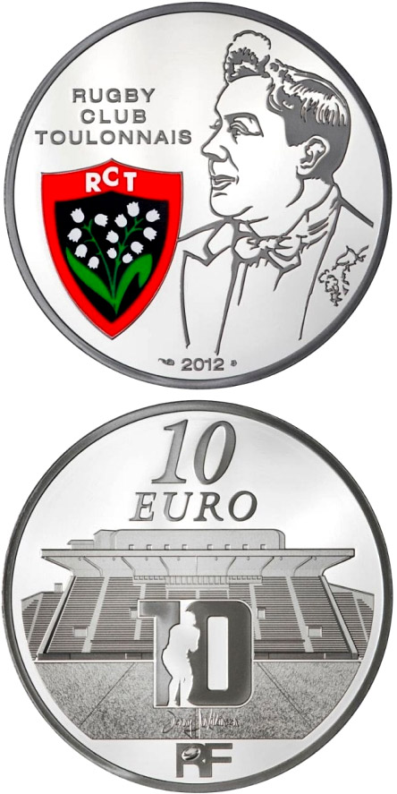 Image of a coin 10 euro | France | Toulon Rugby Club | 2012