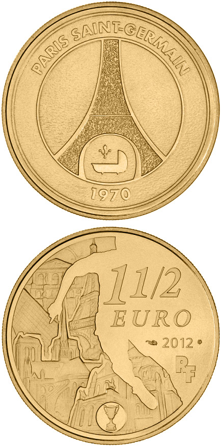 1.5 euro Paris-Saint-Germain - 2012 - Series: Great Sport Teams - France