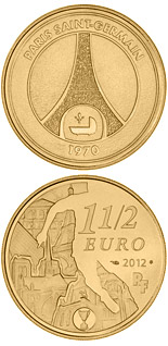 1.5 euro coin Paris-Saint-Germain | France 2012