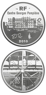 10 euro coin European Architecture: Georges Pompidou Centre | France 2010