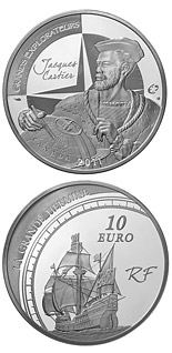 10 euro coin European Explorers: Jacques Cartier | France 2011