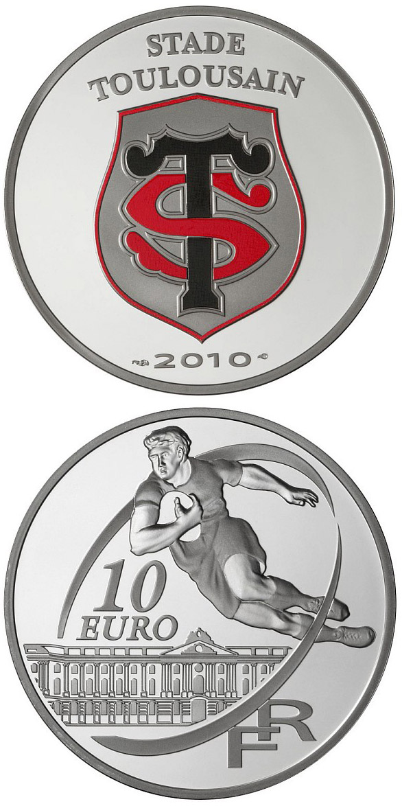 Image of 10 euro coin - Stade Toulousain | France 2010