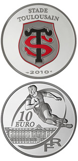 10 euro coin Stade Toulousain | France 2010