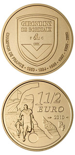 1.5 euro coin Girondins de Bordeaux | France 2010