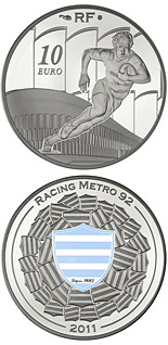 10 euro coin Racing Métro 92 | France 2011
