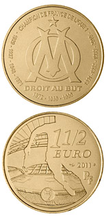 1.5 euro coin Olympique de Marseille | France 2011