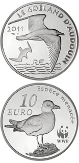 10 euro coin WWF, Audouin's Gull | France 2011
