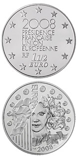 1.5 euro coin French Presidency of the Council of the European Union | France 2008