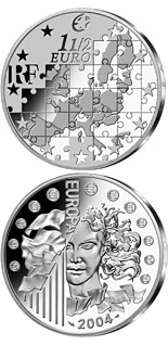 1.5 euro coin Enlargement of the European Union  | France 2004