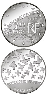 1.5 euro 60 years Peace and Freedom  - 2005 - Series: European Silver Programme - France