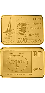 100 euro Pablo Picasso - 2010 - Series: Great Painters - France