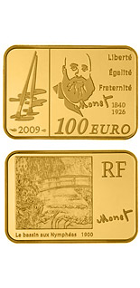 100 euro coin Claude Monet  | France 2009
