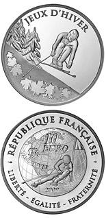 10 euro Ski alpin - 2009 - Series: Summer and Winter Olympic Games - France