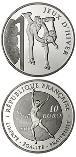 10 euro coin Figure skating | France 2011