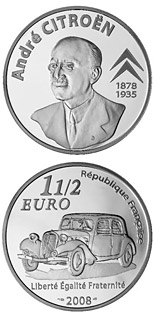 1.5 euro coin 130th Anniversary of the Birth of the André Citroën  | France 2008