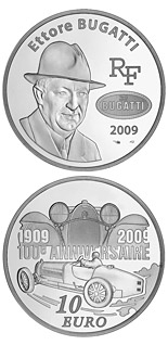 10 euro coin 100 years of Bugatti cars | France 2009