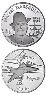 20 euro coin Marcel Dassault | France 2010