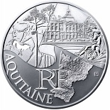 10 euro coin Aquitaine | France 2011