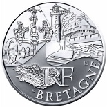 10 euro coin Brittany | France 2011