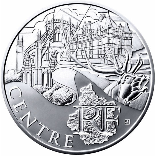 10 euro Center - 2011 - Series: Regions of France - France