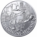 10 euro coin Champagne Ardenne | France 2011