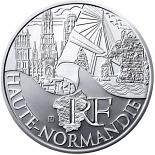 10 euro coin Upper Normandy | France 2011