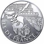 10 euro coin Paris Isle of France | France 2011