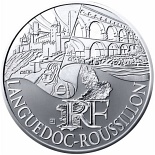 10 euro coin Languedoc Roussillon | France 2011