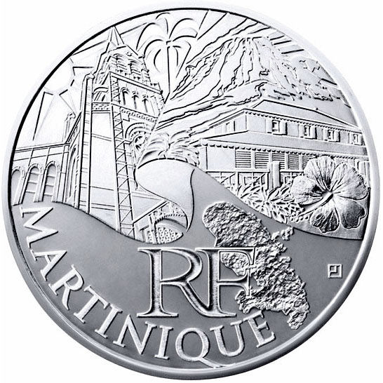 10 euro Martinique  - 2011 - Series: Regions of France - France