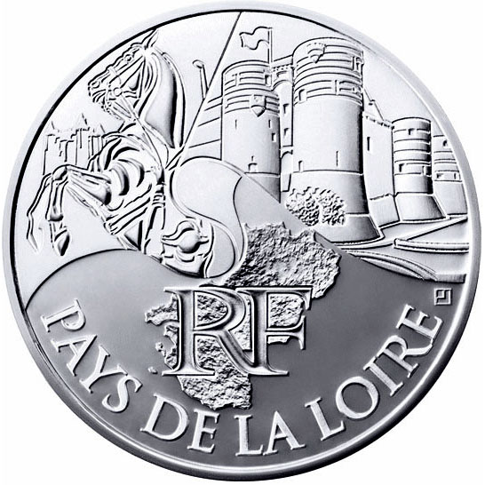 Image of a coin 10 euro | France | Pays de la Loire | 2011
