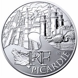 10 euro coin Picardy | France 2011