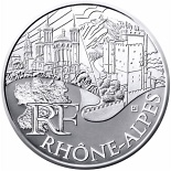 10 euro coin Rhone Alps | France 2011