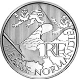 10 euro coin Lower Normandy | France 2010
