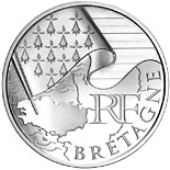 10 euro coin Brittany | France 2010