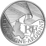 10 euro coin Champagne Ardenne | France 2010