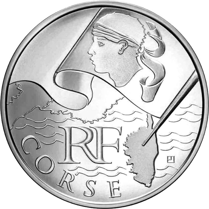 10 euro Corsica - 2010 - Series: Regions of France - France