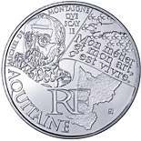 10 euro coin Aquitaine (Michel de Montaigne) | France 2012