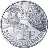 10 euro coin Lower Normandy (Guillaume le Conquérant) | France 2012