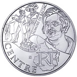 10 euro coin Center (Honoré de Balzac) | France 2012