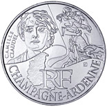 10 euro coin Champagne Ardenne (Camille Claudel) | France 2012