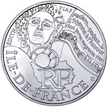10 euro coin Paris Isle of France (Edith Piaf) | France 2012