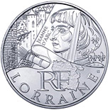 10 euro coin Lorraine (Joan of Arc) | France 2012