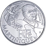 10 euro coin Martinique (Victor Schoelcher) | France 2012