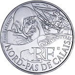 10 euro coin North Calais (Louis Blériot) | France 2012