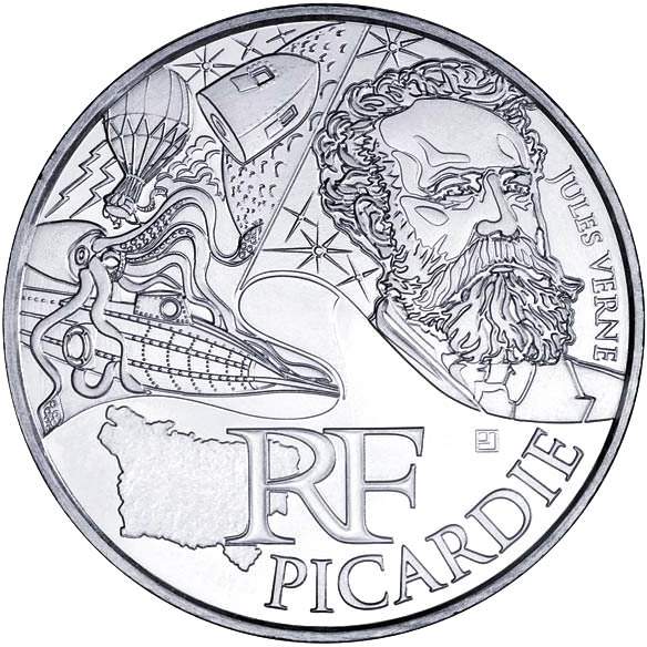 10 euro Picardy (Jules Verne) - 2012 - Series: Regions of France - France
