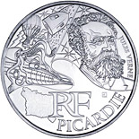 10 euro coin Picardy (Jules Verne) | France 2012