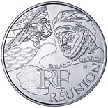 10 euro coin Reunion (Roland Garros) | France 2012