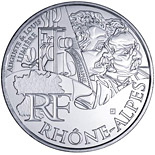 10 euro coin Rhone Alps (Auguste and Louis Lumière) | France 2012